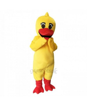 Cute Yellow Little Duck Mascot Costume