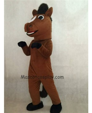 Hot Sale Adorable Realistic New Brown Friendly Horse Mascot Costume