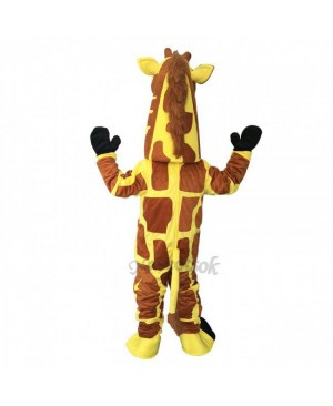 Cute Funny Yellow Giraffe Mascot Costume
