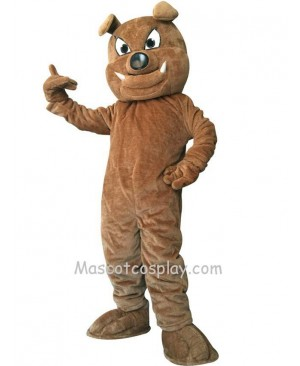 Cute Brown Buster Bulldog Dog Mascot Costume