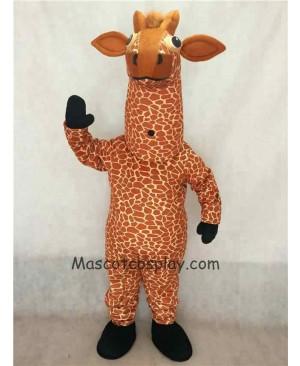 Hot Sale Adorable Realistic New Giraffe Mascot Costume with Black Feet