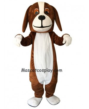 New Brown Basset Hound Dog Mascot Costume