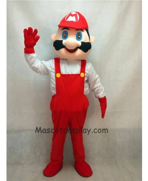 Hot Sale Adorable Realistic New Popular Professional Mario with Red Clothes Mascot Adult Costume