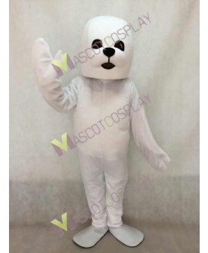 Lovely White Seal Mascot Costume
