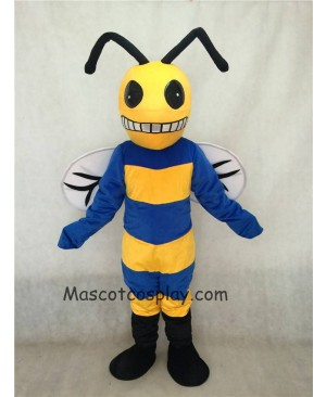 Hot Sale Adorable Realistic New Popular Professional Custom Color Royal Blue and Yellow Bee Mascot Costume