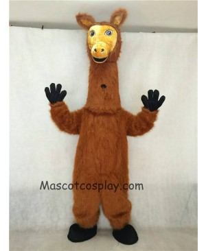 Hot Sale Adorable Realistic New Popular Professional Dark Brown Hairy Llama Mascot Costume