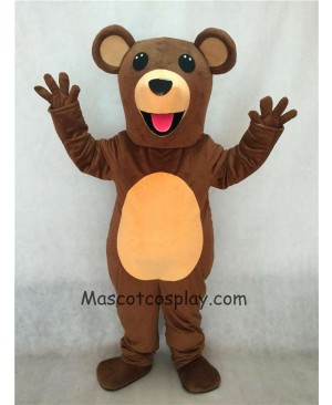 Hot Sale Adorable Realistic New Popular Professional Teddy Bear Mascot Costume with Pink Tongue