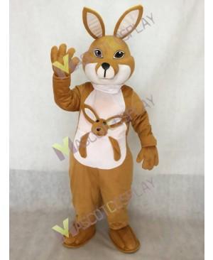 Tan Kangaroo with Joey Mascot Costume