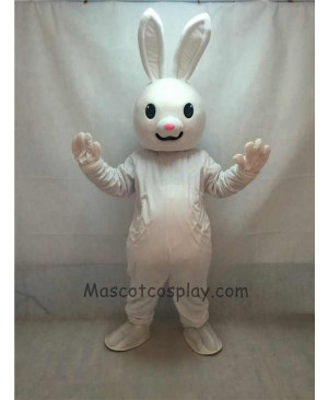 Cute Pink Nose Easter Bunny Rabbit Adult Mascot Costume