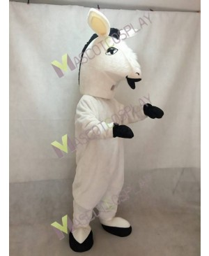 New White Donkey Mascot Costume