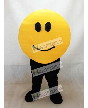 Yellow Happy Face Mascot Costume