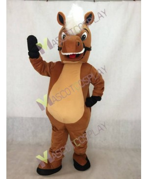 New Stable Horse Mascot Costume with White Mane