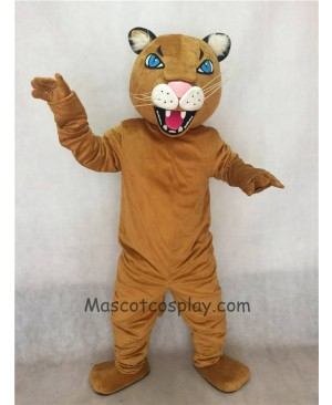 Fierce Adult Light Brown Puma/Cougar Mascot Costume