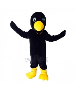Cute Black Crow Bird Mascot Costume