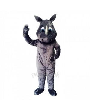 New Gray Happy Rhino Costume Mascot