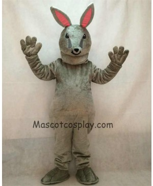 High Quality Easter Jack Bunny Grey Rabbit Mascot Costume