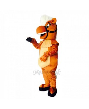 New Brown Stable Horse Mascot Costume - Plush