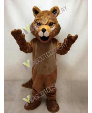 Cute Brown Roger Wolf Mascot Costume