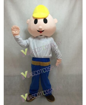 Bob the Builder Construction Worker Mascot Costume in White Shirt