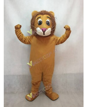 Cute Jr. Lion Mascot Costume with Brown Mane
