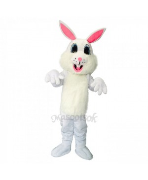 New Easter White Rabbit Long Ears Mascot Costume