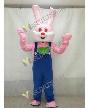 Easter Pink Robbie Rabbit Mascot Adult Costume