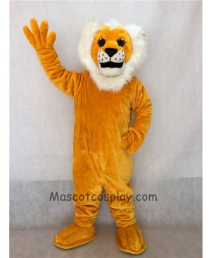 High Quality Yellow Sleepy Lion Mascot Costume