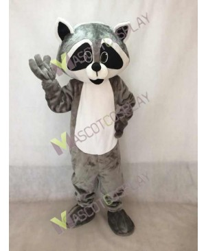 Robbie Raccoon with White Belly Mascot Costume