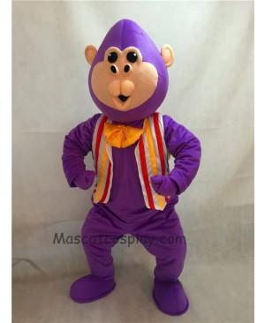 High Quality Purple Bubba Gorilla Monkey Mascot Costume