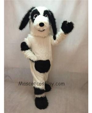 High Quality White and Black Fido Dog Mascot Costume