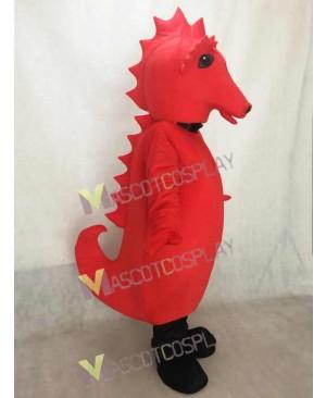 Cute Red Sammy Seahorse Mascot Costume