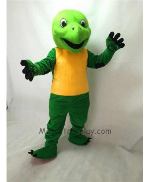 Cute Green Tortoise Plush Adult Mascot Costume