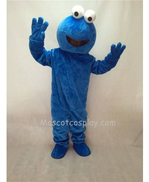 Cute Sesame Street Blue Cookie Monster Plush Mascot Costume