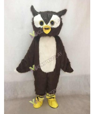 Adult Friendly Brown Owl Mascot Costume