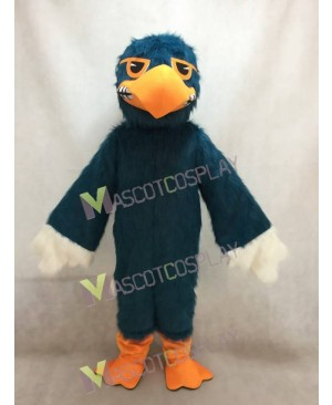 Custom Color Dark Blue Fighting Hawk Mascot Costume