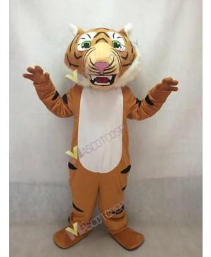 Cute Super Black Stripe Tiger Mascot Costume