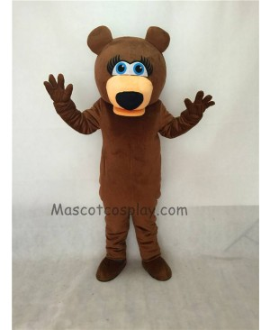Cute Female Brown Bear Adult Mascot Costume