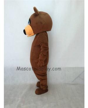 Cute Female Brown Bear Adult Mascot Costume