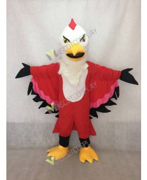 Realistic Adult Custom Color Red and Pink Thunderbird Mascot Costume