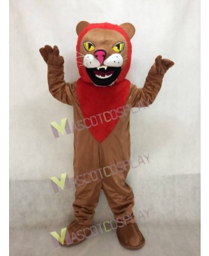 Adult Custom Color African Lion with Red Mane Mascot Costume
