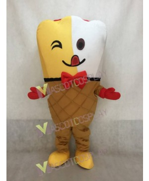Ice Cream Cone Mascot Costume Fancy Dress Outfit