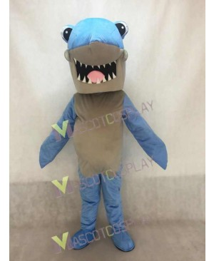 New Cartoon Blue Shark Mascot Costume