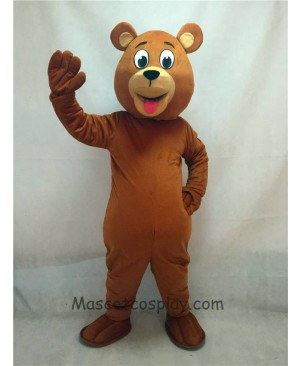 High Quality Adult Lucky Brown Bear Mascot Costume