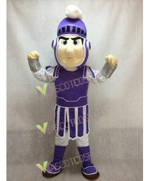Hot Sale Adorable Realistic New Purple Spartan Trojan Knight Sparty Mascot Costume Custom Fancy Costume Carnival Cosplay