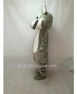 Fierce Adult Gray Wolf Mascot Costume