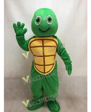 New Green Happy Turtle Mascot Costume