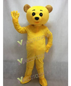 Lovely Yellow Teddy Bear Mascot Costume