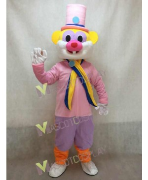 Custom Color Pink Flower Hat Rat Mascot Costume