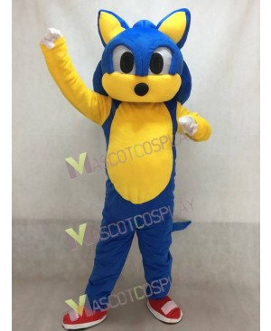 Lovely Blue Hedgehog Sonic Mascot Costume