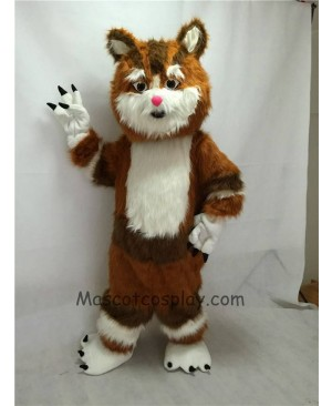 Cute New Brown Cat Mascot Costume